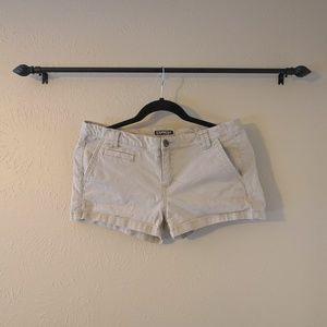 Distressed Khaki Express Shorts